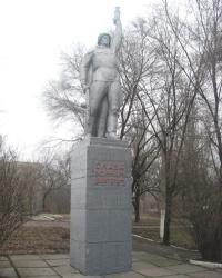 Памятник воинам-шахтерам и могила разведчика Табунова Н.П. в Донецке
