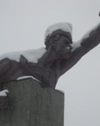 """Памятник неизвестному казаку """"Казак в дозоре"""" в Селидово"""