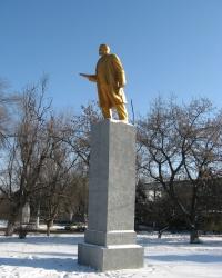 Золотой Ленин на поселке Боссе в Донецке