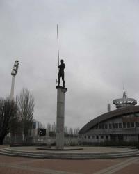 Памятник спортивной гордости Донбасса.