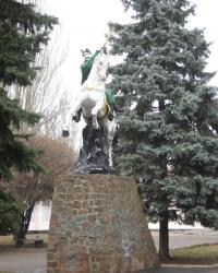 Памятник Богдану Хмельницкому в Донецке.