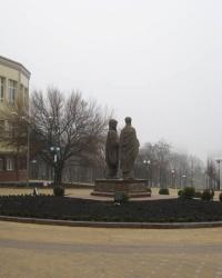 Памятник Кириллу и Мефодию в Донецке.