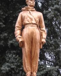 Памятник стратонавтам в Донецке.