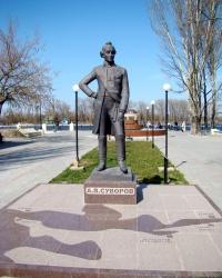 Памятник А.В.Суворову в п.Голая Пристань