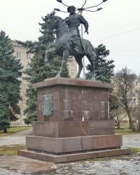 Памятник князю Г.Засекину в г.Волгограде