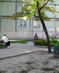 Памятник бабушке, торгующей семечками, в г.Комсомольск