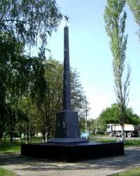 Памятник на месте форсирования Днепра 152-ой стрелковой дивизией в 1943 году, пос. Кировское