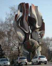 """Скульптура """"Горящий метеор"""" в г.Днепропетровск"""