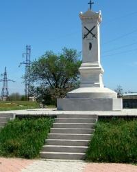 Памятник на месте гибели русских воинов во время Крымской войны