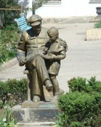Памятник В.И.Ленину на территории санатория ''Приморский'' в г.Евпатория