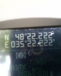 N 48º 22.222' E 35º 22.222'