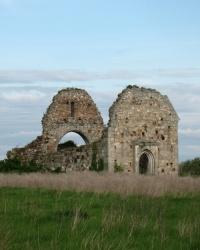 Руины костёла Иоанна Крестителя (1117 г.), с. Мужиево