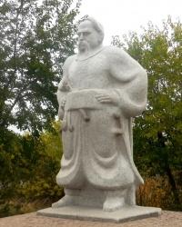 Памятник Тарасу Бульбе на о.Хортица в г.Запорожье