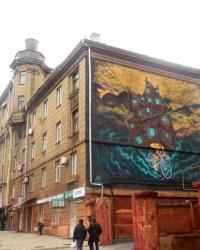 Граффити «Велосипедист» в г.Мариуполе
