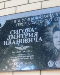 Аннотационная доска на ул. Д.И. Сигова в г. Донецк