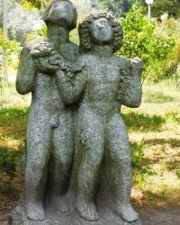 Парковые скульптуры на Владимирской горке в г. Киеве