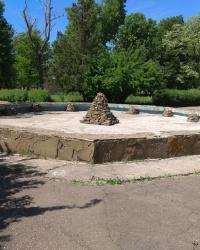 Фонтан на территории парка культуры и отдыха в г.Амвросиевка