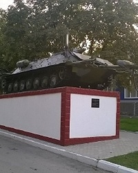 Памятник инженерной разведывательной машине ИРМ в г.Каменец-Подольский