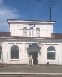 Памятник архитектуры - здание вокзала (начало ХХ в.) в п.г.т.Пришиб