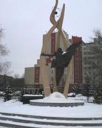 Памятник ликвидаторам аварии на Чернобыльской АЭС в г.Вышгороде