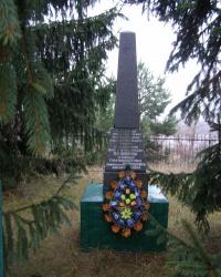 с. Каменка. Памятный знак на месте переправы партизан.