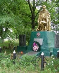 с. Буянки. Братская могила и памятный знак односельчанам