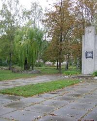м. Гребінка. Пам'ятний знак військовим з'єднанням і частинам, які звільнили місто.