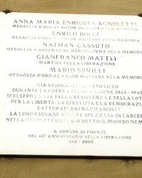 м. Флоренція. Меморіальні дошки загиблим випускникам ліцею Мікеланджело.
