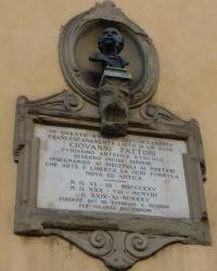 м. Флоренція. Меморіальна дошка Джованні Фатторі.