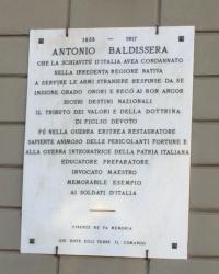 м. Флоренція. Меморіальна дошка генералу Балдіссера.