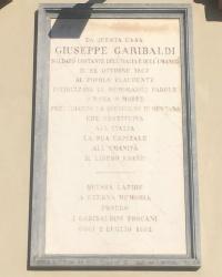 м. Флоренція. Меморіальна дошка Джузеппе Гарібальді.