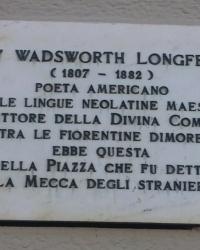м. Флоренція. Меморіальна дошка Генрі Лонгфелло.