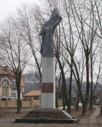 г.Киев. Памятный знак погибшим землякам на улице Каменяров.