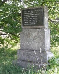 с. Комарівка Борзнянського району. Пам'ятний знак на честь звільнення села.
