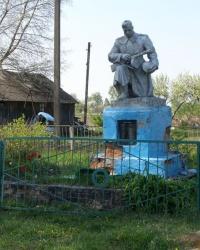 пгт Куликовка. Братская могила на территории больницы.