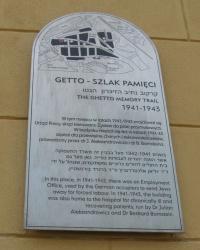 м. Краків. Меморіальна дошка біржі праці в гетто.