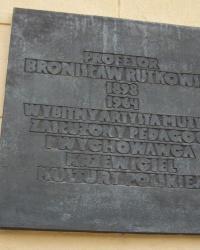 м. Краків. Меморіальна дошка Броніславу Рутковському.