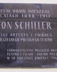 м. Краків. Меморіальна дошка Леону Шиллеру.