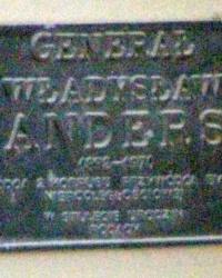 м. Краків. Меморіальна дошка генералу Андерсу.