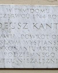 м. Краків. Меморіальна дошка Тадеушу Кантору.