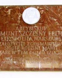 м. Краків. Меморіальна дошка архибіскупу Зігмонту Щесному Фелінському.