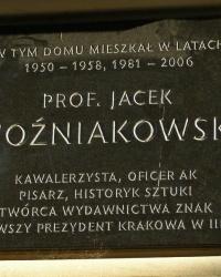м. Краків. Меморіальна дошка Яцеку Возьняковському.