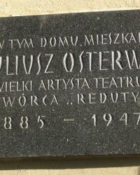 м. Краків. Меморіальна дошка Юліушу Остерві.