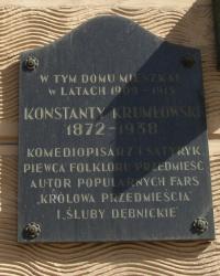 м. Краків. Меморіальна дошка Костянтину Крумловському.