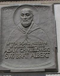 м. Краків. Меморіальна дошка св. брату Альберту.