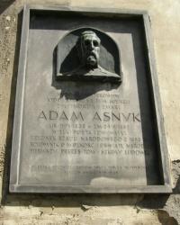 м. Краків. Меморіальна дошка Адаму Аснику.