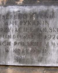 м. Краків. Меморіальна дошка Серено Фенну.