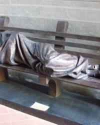м. Флоренція. Скульптура «Бездомний Ісус».