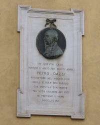 м. Флоренція. Меморіальна дошка Пьєтро Дацці.