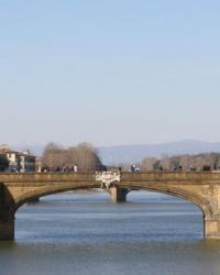 м. Флоренція. Міст Святої Трійці.
